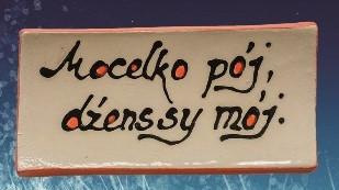 Keramikplättchen mit Spruch