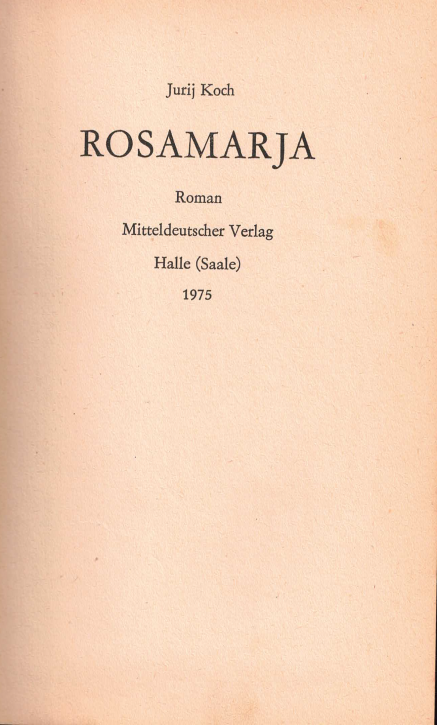 (A) Rosamarja
