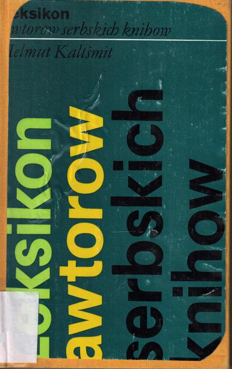 (A) Leksikon awtorow serbskich knihow 1945-1978