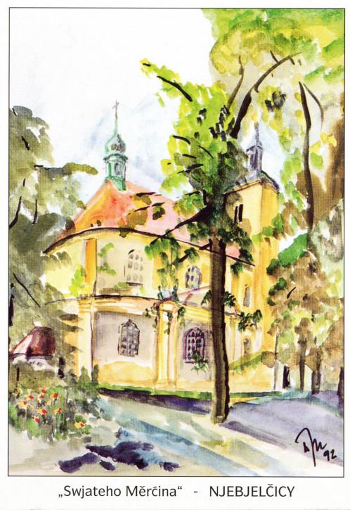 Katholische Pfarrkirche in Nebelschütz (L)