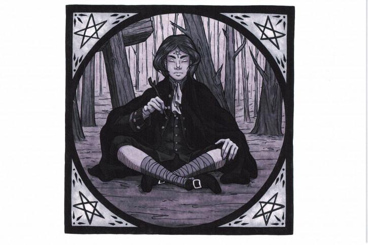 "Postkarte ""Krabat im Wald"" (L)"