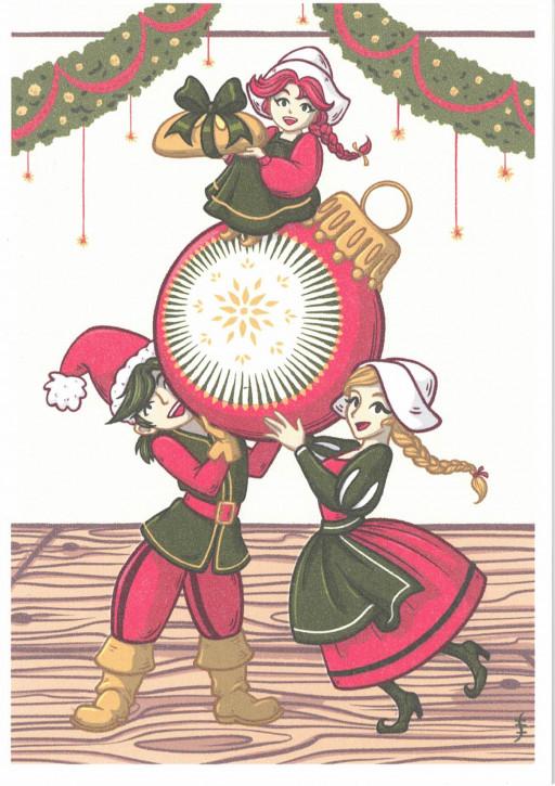 Klappkarte Weihnachts-Lutki (L)