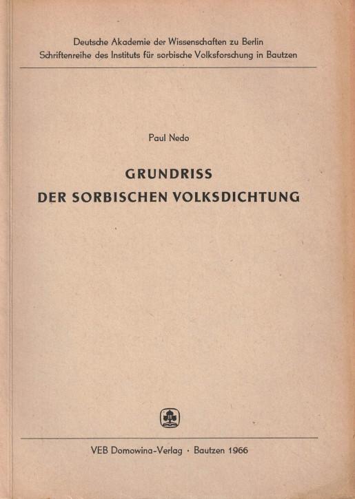 (A) Grundriss der sorbischen Volksdichtung