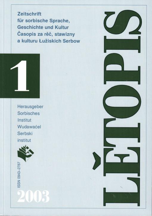 (A) Lětopis 1/2003