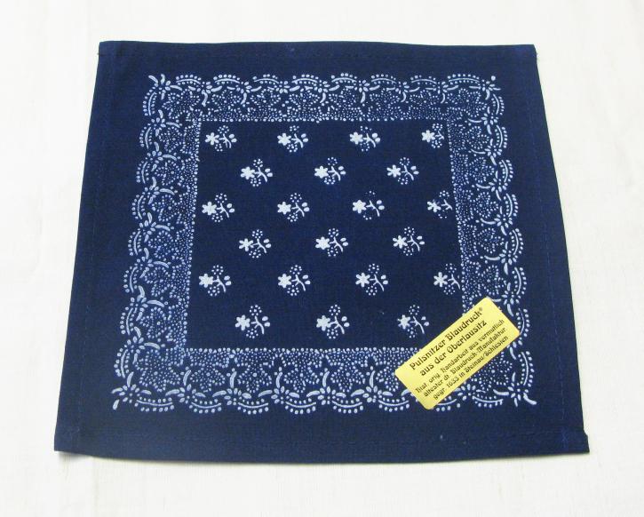 Blaudruck Deckchen 23x23