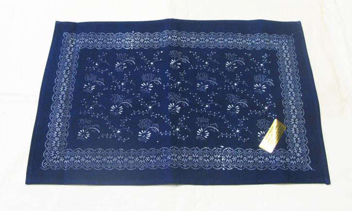 Blaudruck Deckchen / Läufer 74x36