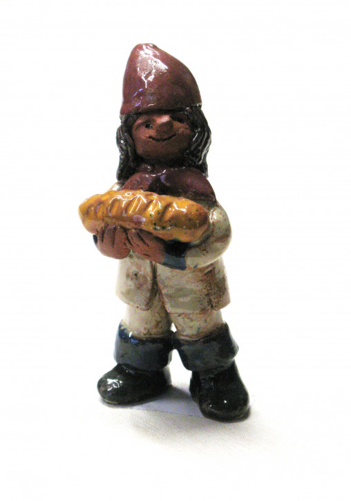 """Keramikfigur """"Lutk mit Brot"""""""