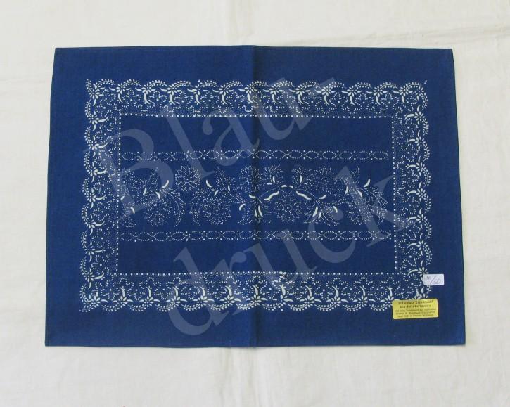 Tischdecke Blaudruck 36 x 50 cm (L)