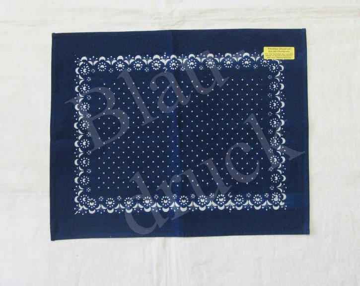 Tischdecke Blaudruck 36 x 45 cm (L)
