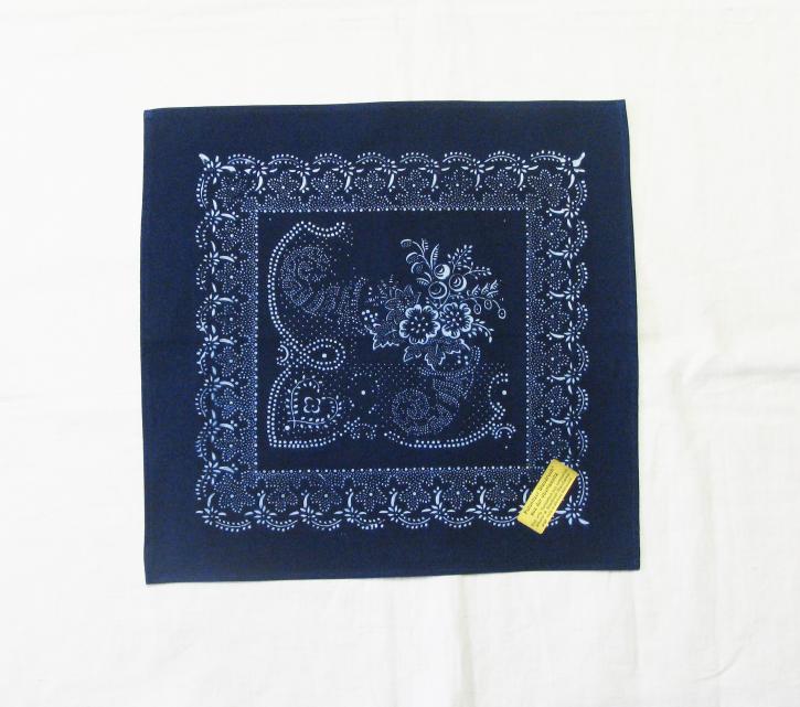 Tischdecke Blaudruck  36 x 36 cm (L)