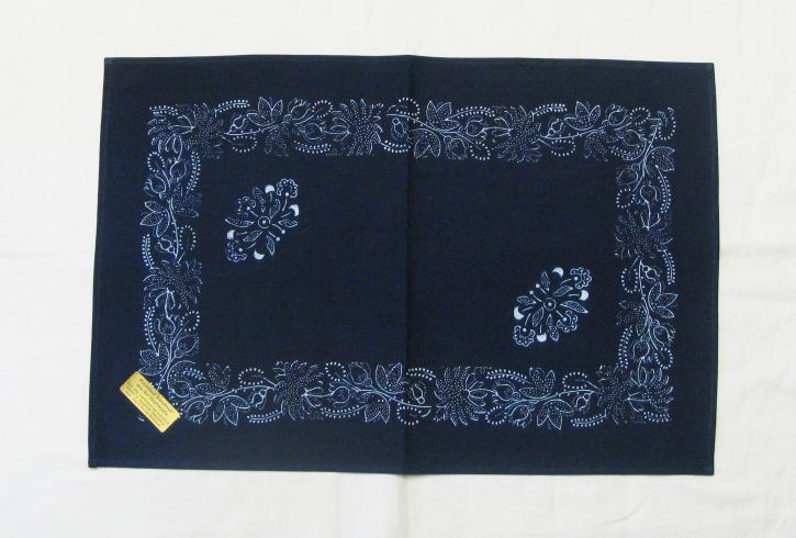 Tischdecke Blaudruck 36 x 55 cm (L)