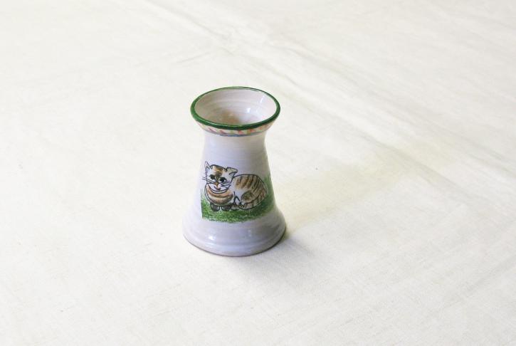 Kleine Vase Katzenmotiv (L)