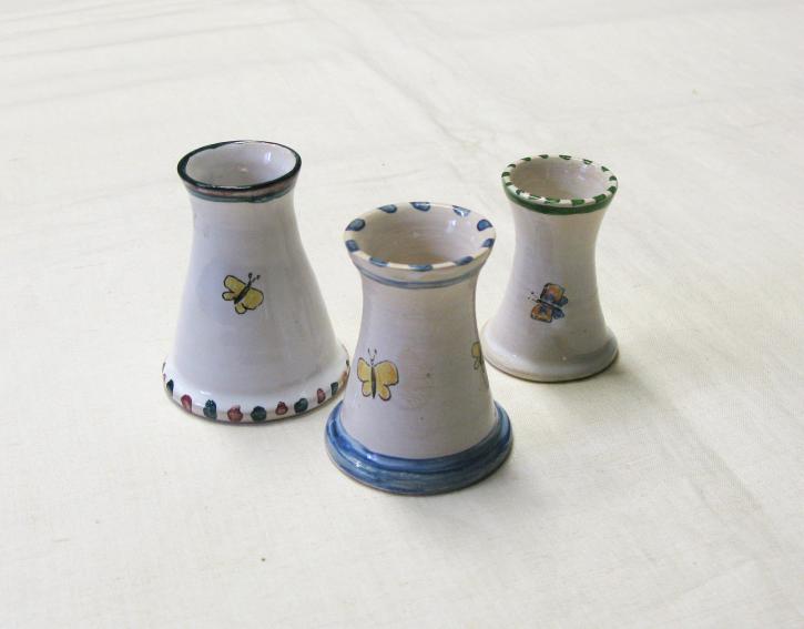 Kleine Vasen Schmetterlingsmotiv (L)