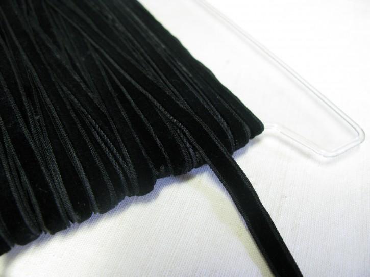 1 Meter Samtband schwarz Breite: 6 mm (L)