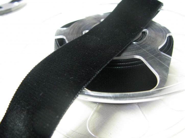 1 Meter Samtband schwarz Breite: 36 mm (L)