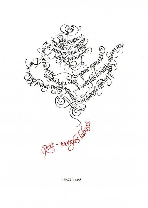Glückwunschkarte Kalligrafie (L)