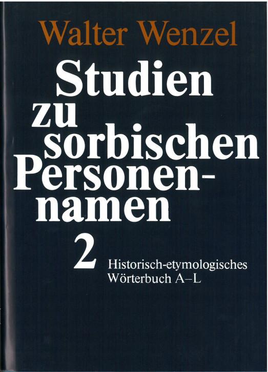 Studien zu sorbischen Personennamen 2 (A-L)