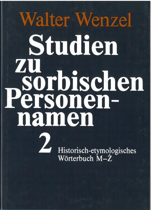 Studien zu sorbischen Personennamen 2 (M-Z)