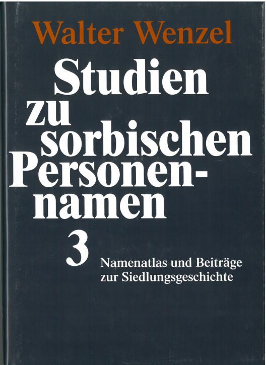 Studien zu sorbischen Personennamen 3