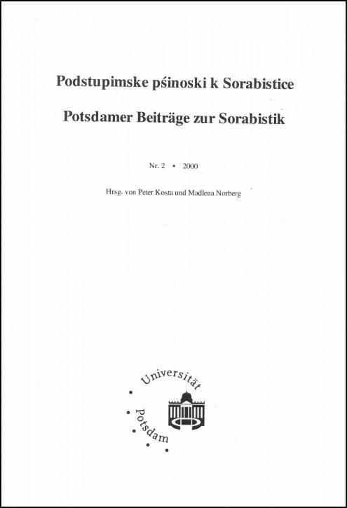 Podstupimske přinoški k sorabistice č. 2 (L)