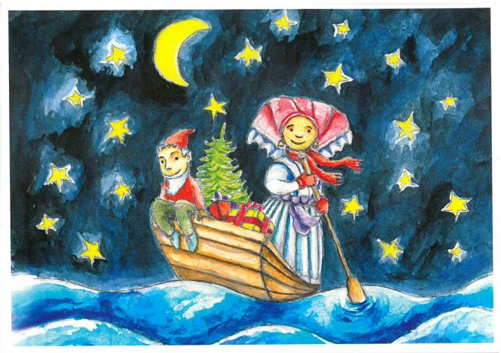 """Postkarte """"Bescherfahrt zur Weihnacht"""""""