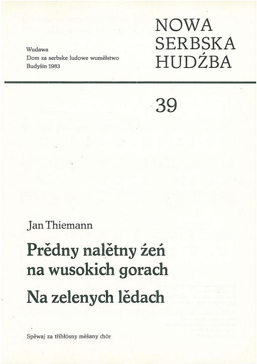 Neue sorbische Musik 39 (L)