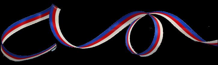 1 Meter Schleifenband in sorbischen Farben (Nr. 1)