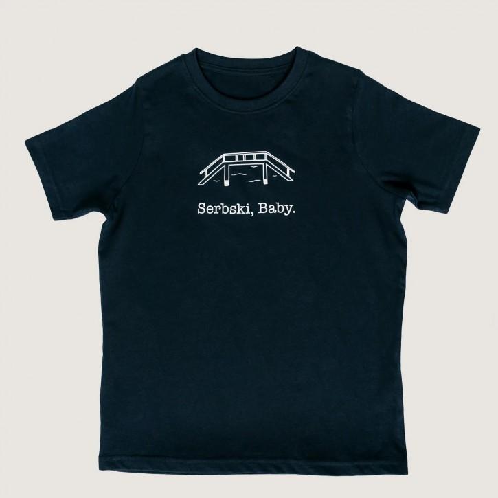 "T-Shirt ""Serbski, Baby."""