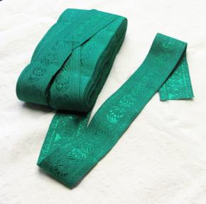 Nr. 10 Stoffband bestickt (grün)
