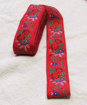Nr. 17 Stoffband bestickt (rot)