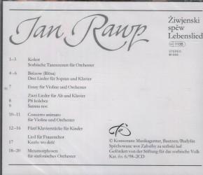 Jan Rawp: Žiwjenski spěw - Lebenslied