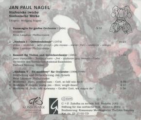 Jan Paul Nagel: Sinfoniske twórby - Sinfonische Werke