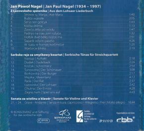 Jan Paul Nagel. Komorna hudźba a spěwy