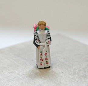kleine Trachtenfigur družka (Brautjungfer)